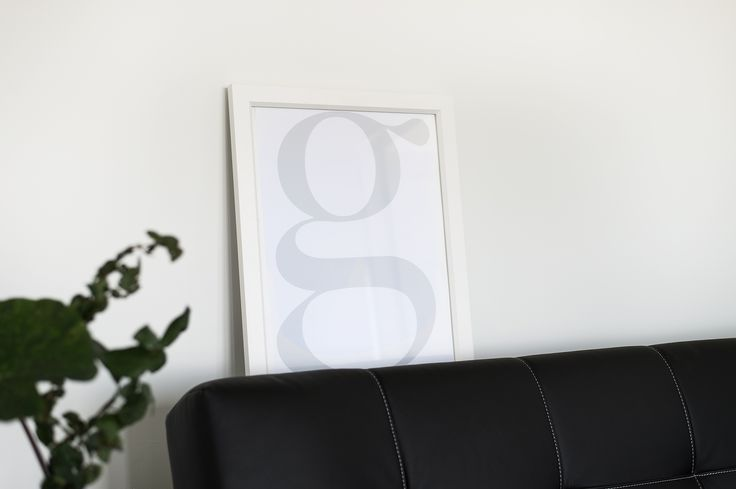 "Typography ""G"" print available at www.forkeeps.co.nz"