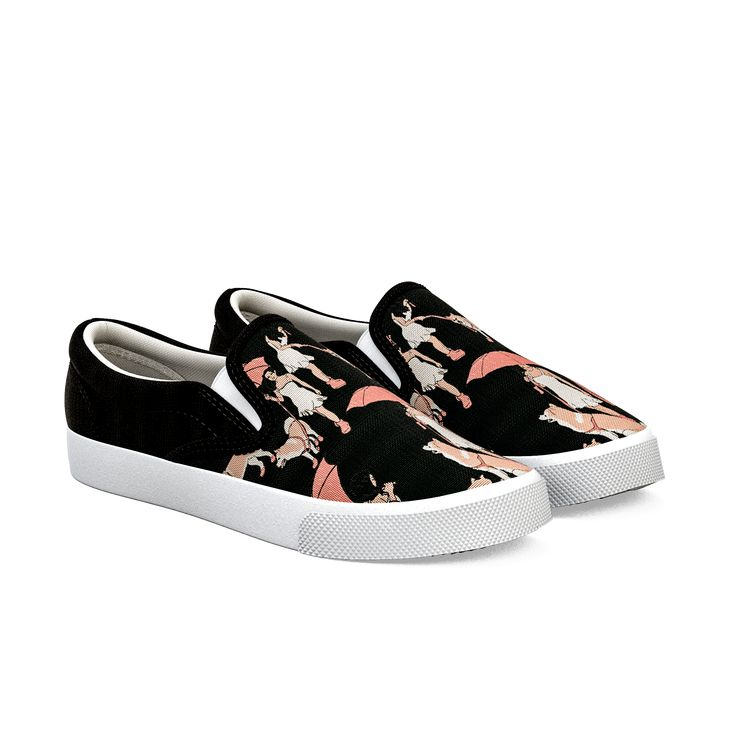 Illustration Art Animals Cute Birds Flowers Nature Women¡s Casual Shoes Sneakers Slip-On Slip News Trainers