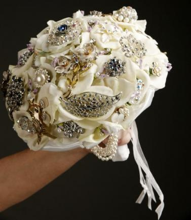 Beautiful brooch bouquets for brides and everyday display