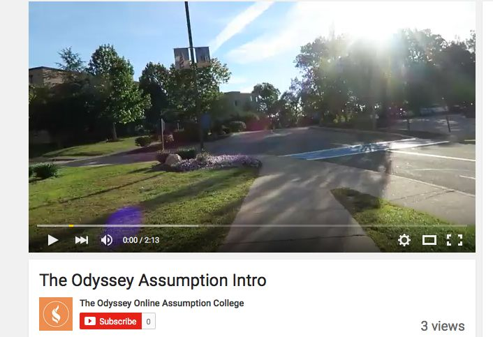 The Odyssey At Assumption Intro