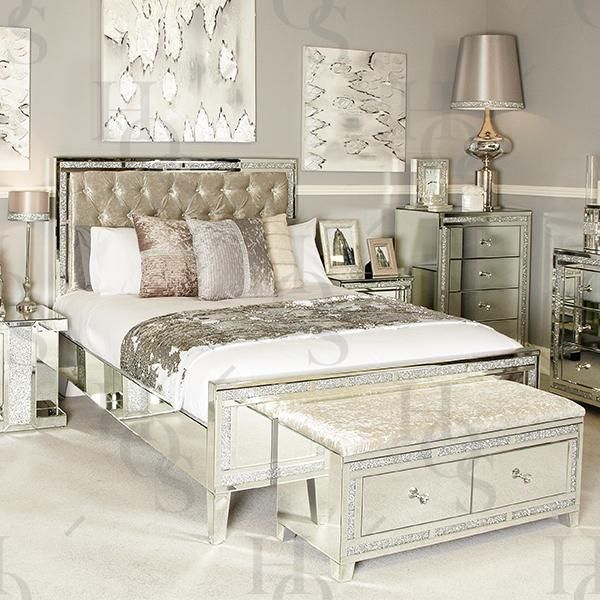 Sparkle Diamond Mirror Bed Master Bedrooms Decor Diamond Mirror