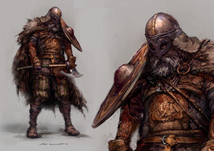 Jako, że wczoraj wypadał Ragnarok i go przetrwaliśmy, to wiking w nagrodę nam się należy! STIAN DAHLSLETT Concept Artist : Characters : Characters II