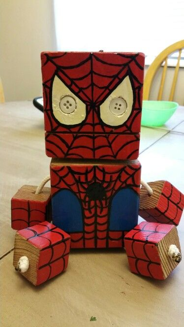 Spider -  wood toy, natural wood, wood robot, DIY toy #woodtoy