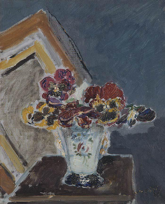 Filippo De Pisis (Italian, 1896-1956), Viole del pensiero, 1932. Oil on canvas