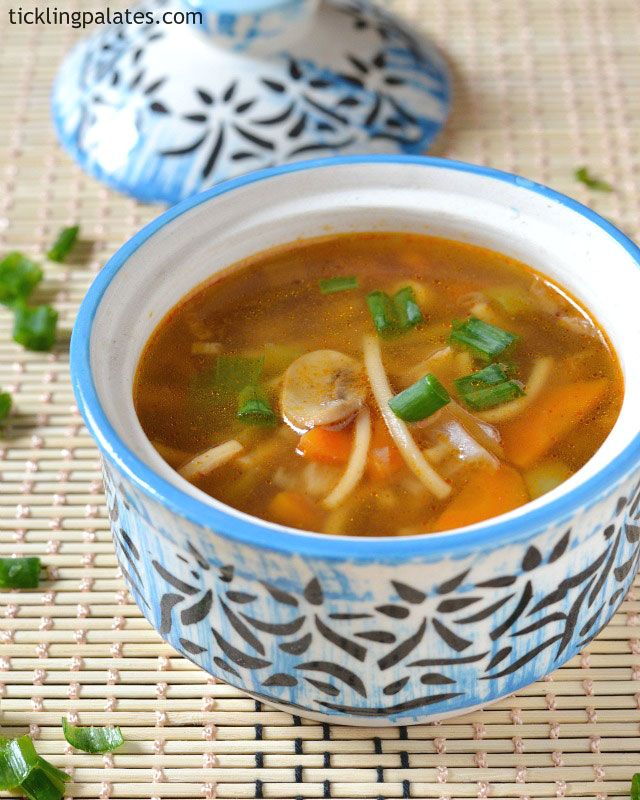 Vegetable Chow Mein Soup Recipe