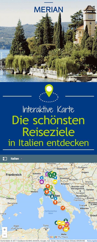 Von Venedig über Südtirol und Neapel bis hin zum Ätna könnt ihr mit unserer interaktiven Karte die schönsten Reiseziele Italiens entdecken. Buon divertimento!