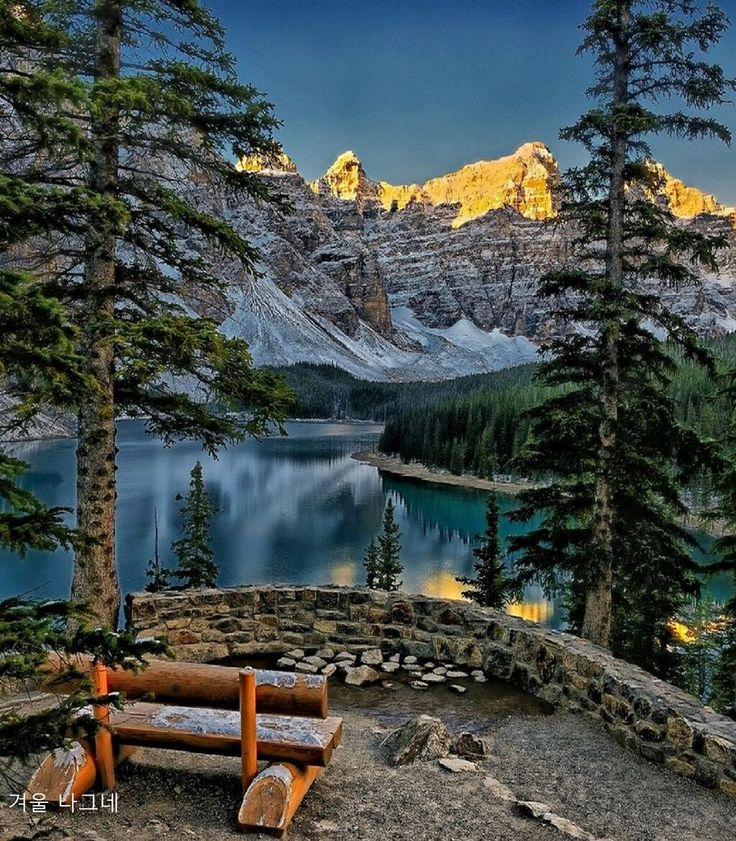 Hiver, Lac Moraine, Alberta...