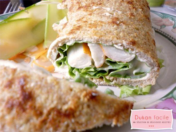 Wrap Dukan au surimi | Mes recettes faciles du régime Dukan
