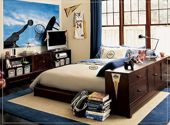 Basketball bedroom ideas for teen room ideas for young for Bedroom designs for young men