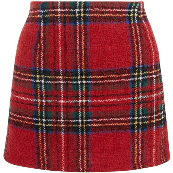 New Look Petite Red Check Skirt ($27) ❤ liked on Polyvore featuring skirts, red pattern, checked skirt, red knee length skirt, checkerboard skirt, plaid skirt and red tartan skirt