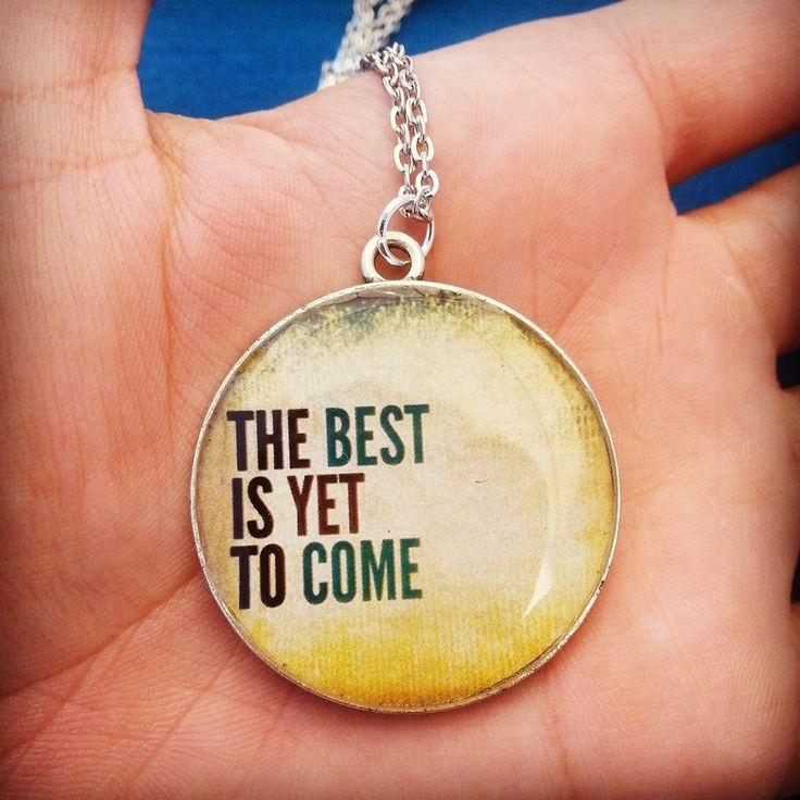 Collana con ciondolo in resina - The best is yet to come : Collane di bidibijoux
