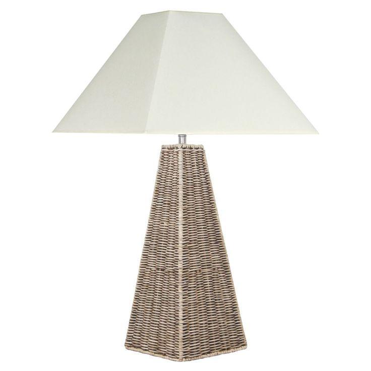 Raffles Rattan Pyramid Floor Lamp
