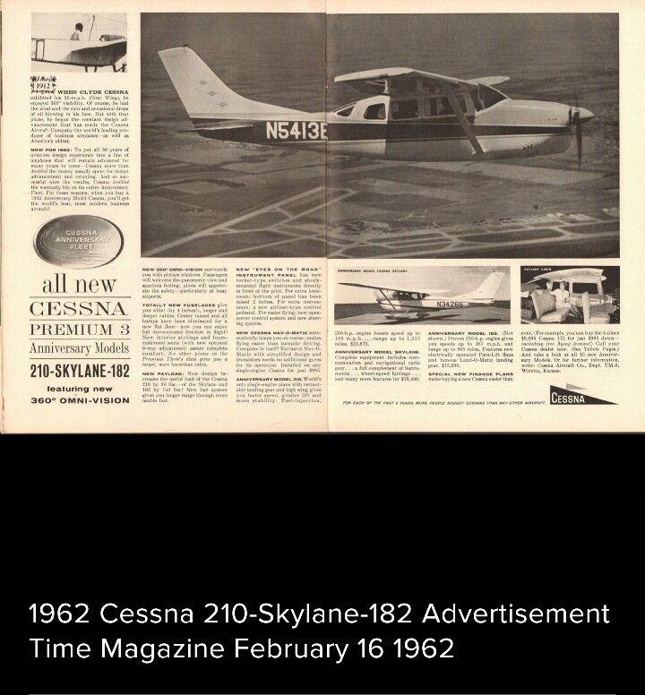 1962 Cessna 210-Skylane-182