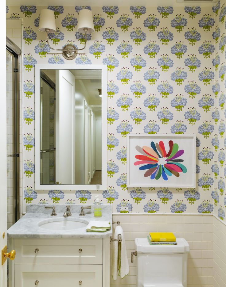 431 best walls images on pinterest wall papers bathroom for Funky bathroom wallpaper ideas