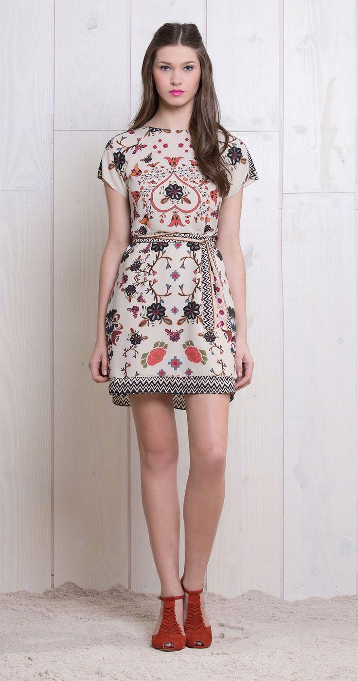 Vestido Floral Étnico   Vestidos   Antix Store