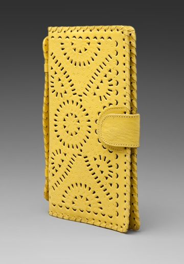 something like this: Yellow Wallets, Yellow Clutches, Summer Clutches, Cute Wallets, Happy Colors, Clutches Yellow, Perfect Colors, Mustard Colour, Perforated Clutches