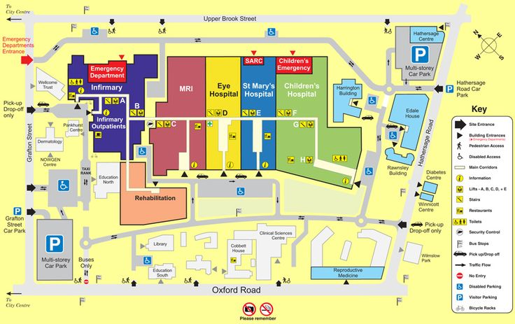 Map Of Manchester Royal Infirmary Hospital  Bing Images