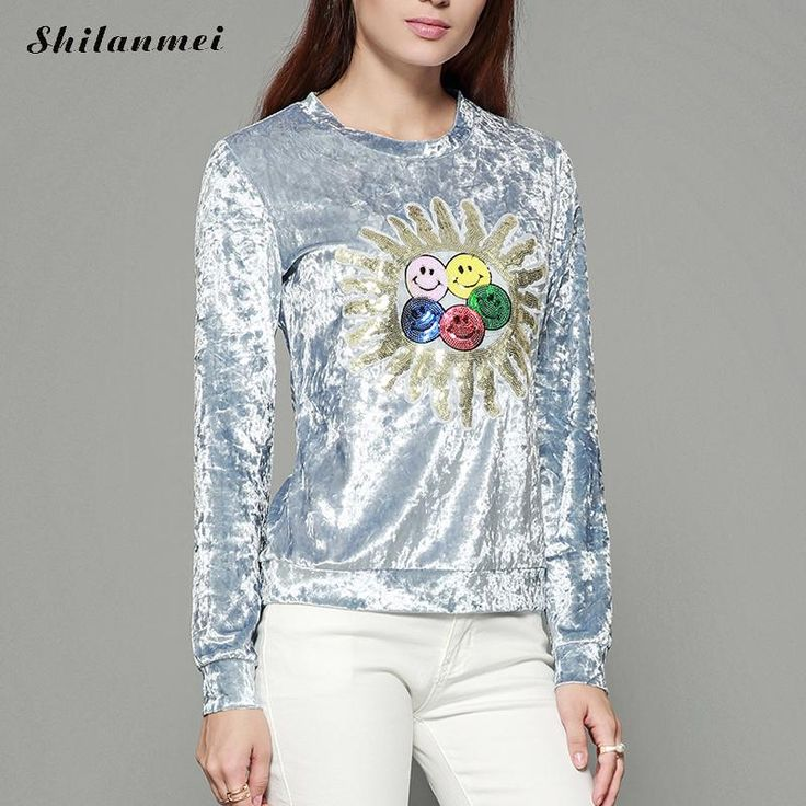 2017 Embroider Sunflower Satin Blouse Tops Women Tops For Autumn Vintage Blouse Round Neck Long Sleeve Blouse Velvet Top Blusas #Satin blouses http://www.ku-ki-shop.com/shop/satin-blouses/2017-embroider-sunflower-satin-blouse-tops-women-tops-for-autumn-vintage-blouse-round-neck-long-sleeve-blouse-velvet-top-blusas/