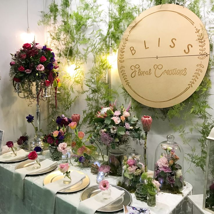 Our latest Expo stand at The Wedding Expo in Joburg. We tried to include an array of different floral arrangements for various styles of weddings. Designed by Bliss Floral Creations