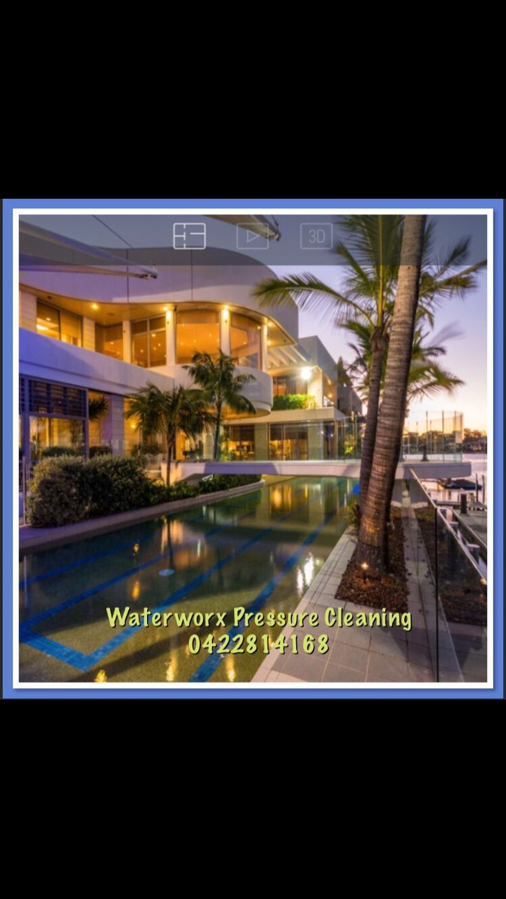 House washing on the Gold Coast by Waterworx Pressure Cleaning visit us - www.waterworxpressurecleaning.com.au