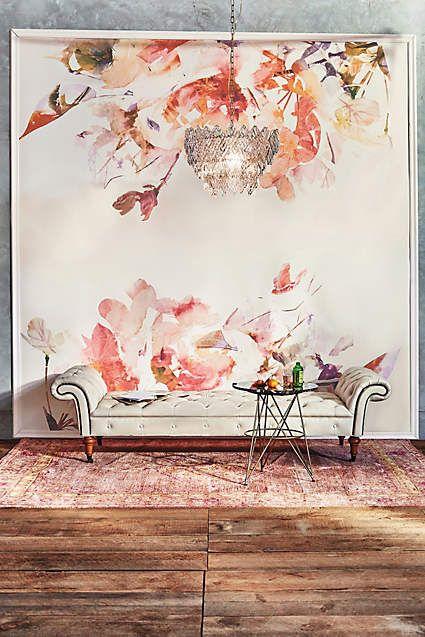 25 best painted wall murals ideas on pinterest wall for Anthropologie mural wallpaper
