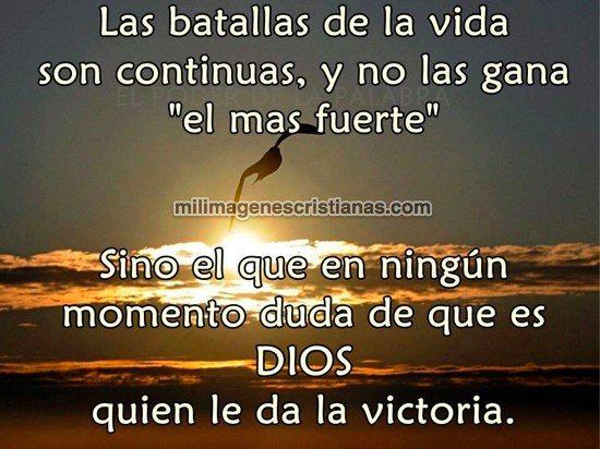 imágenes cristianas dios me da la victoria