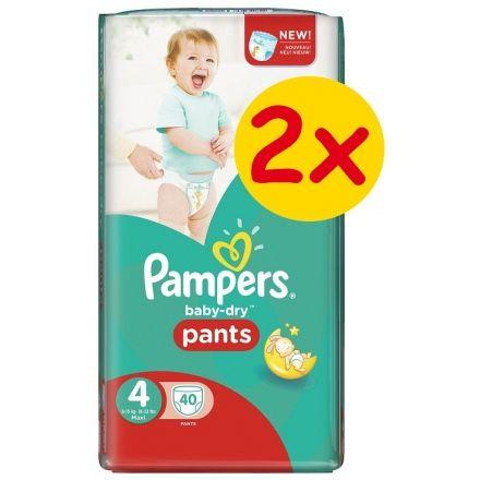 Πάνες Pampers Baby Dry Pants 2x40τεμ Νο 4 (8-15kg)