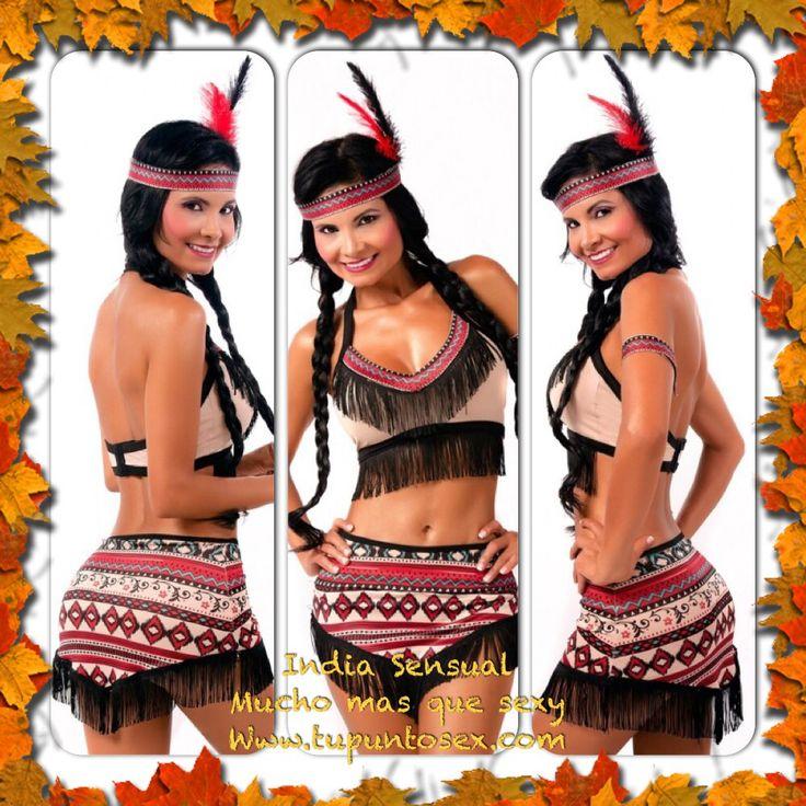 Disfraz de India, disfraces para mujeres sensuales, disfraces para Halloween novedosos y sexis. Www.tupuntosex.com