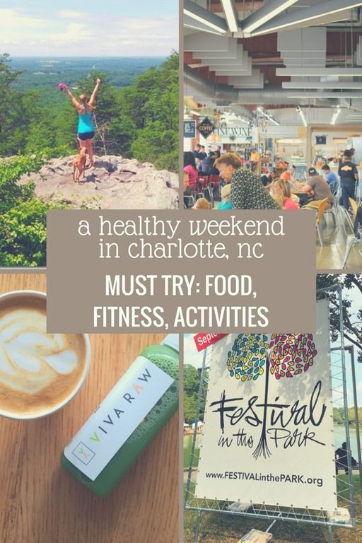 A healthy living blogger shares recommendations for healthy things to do in Charlotte, NC, including fun activities, healthy restaurants to try and more