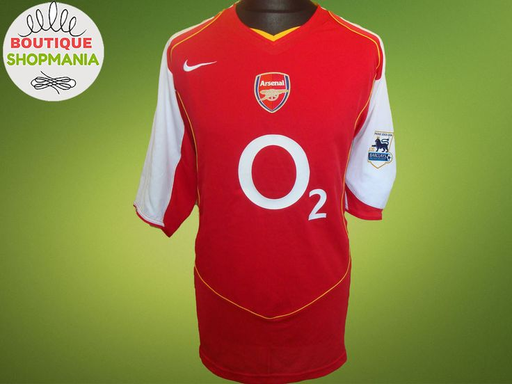 ARSENAL HOME 2004/05 (XXL) One PL Badge NIKE FOOTBALL SHIRT Jersey Maglia Camisa #NKE #ARSENAL