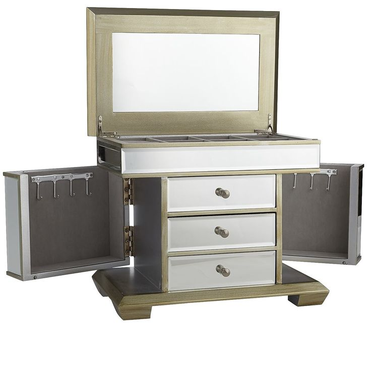 Champagne Mirrored Jewelry Box