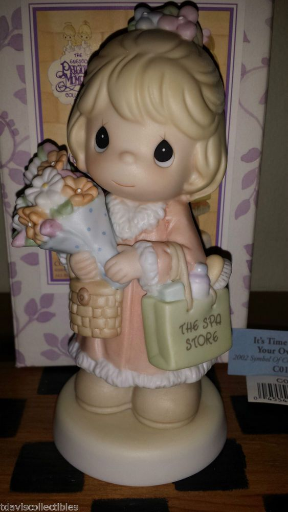 TIME BLESS YOUR OWN DAY ~ Spa Store  2002 Charter Member Precious Moments C0122