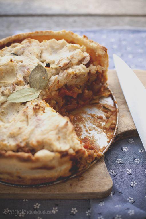 Lentil & Borlotti Bean Pie -- finally made this. Takes a ...