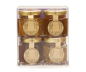 Mini Culinary Pack By Warratina Lavender Farm. Gift Pack: Marmalade 45gm, Strawberry 45gm, Honey 45gm, Mustard 45gm.