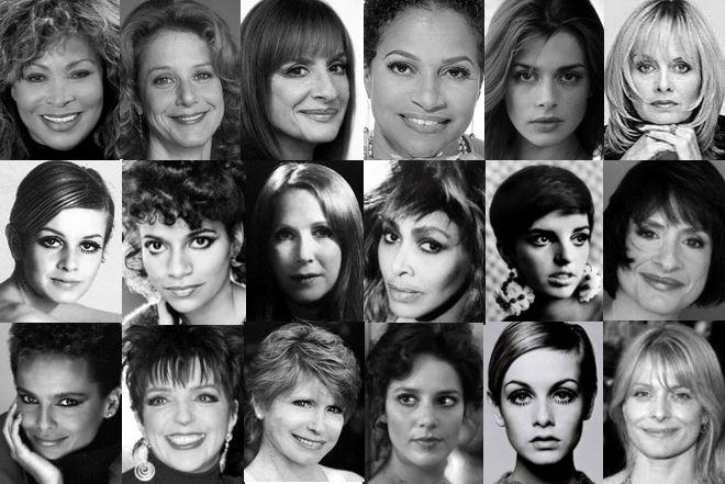 "Kibbe's ""Flamboyant Gamine"" Archetypes: Tina Turner, Debra Winger, Patti Lupone, Debbie Allen, Nastassja Kinski, Twiggy, Julie Harris, Liza Minelli, Shari Belafonte, Bonnie Franklin"