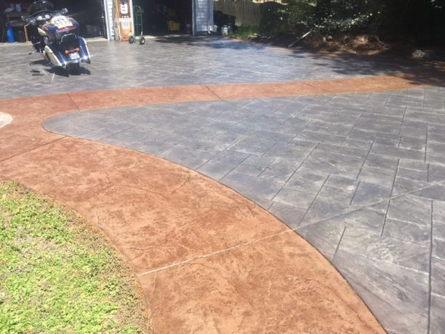 Antiquing Concrete Stain Stained Concrete Concrete Pathway Concrete Cleaner