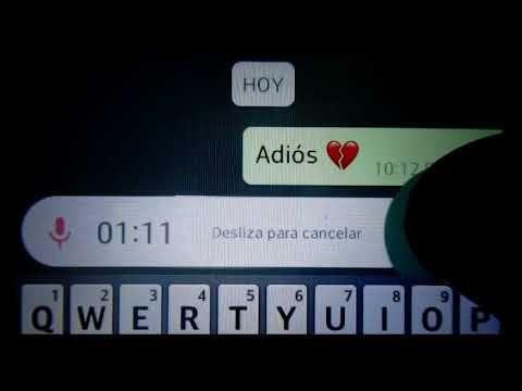 ADIÓS | El Audio Mas Triste De WhatsApp - YouTube