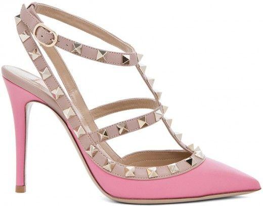 Valentino pink rockstud  #shoes