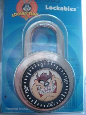 looney tunes TAZ combination lock