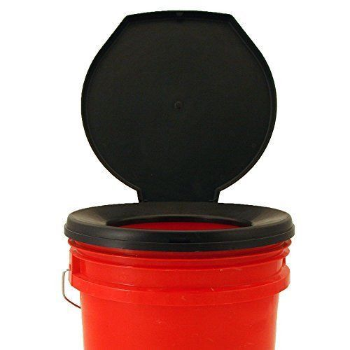Emergency Toilet Bucket Seat Camping Hunting Fishing Boat & Survival Gear