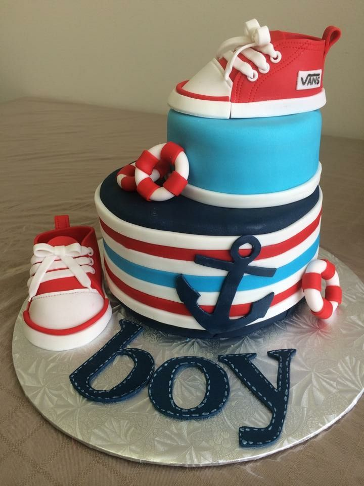 Boy shoes fondant
