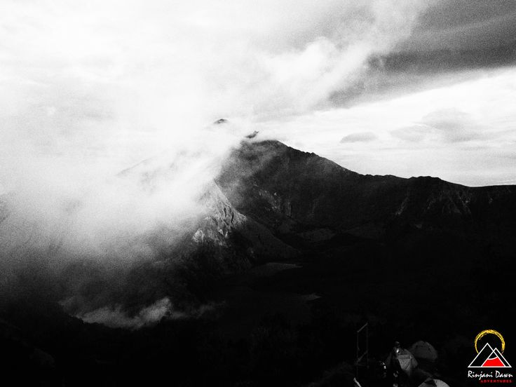 Mt Rinjani Black & White