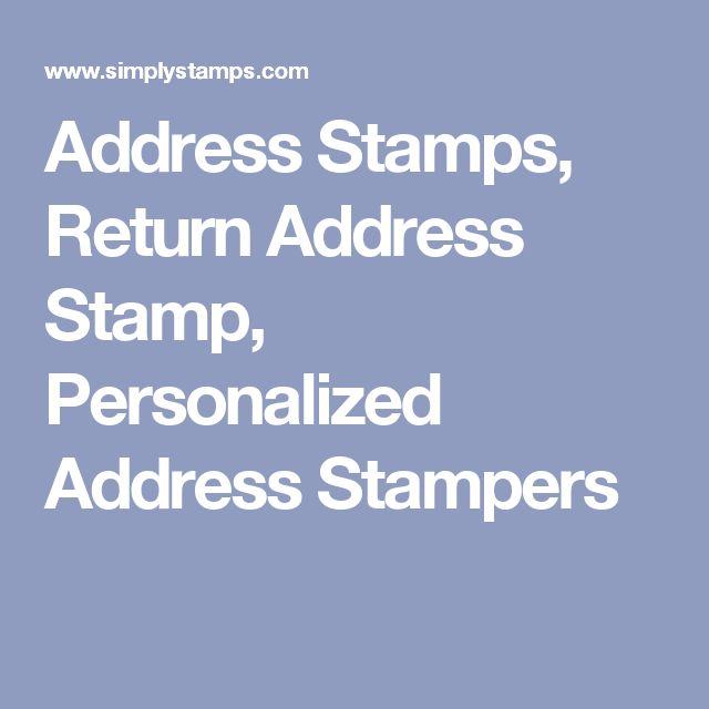 Address Stamps, Return Address Stamp, Personalized Address Stampers
