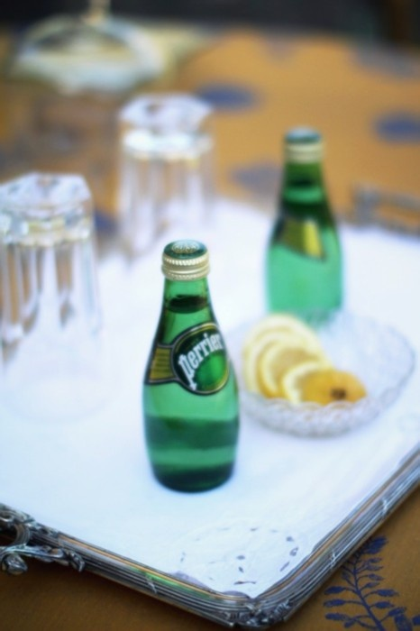 Perrier.. natural mineral water.. for when your craving bubbles.. :) add a squeeze of your favorite FRESH fruit juice for extra amazingness.