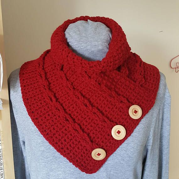 crochet chain loop cowl  by Avondale Handmade on etsy