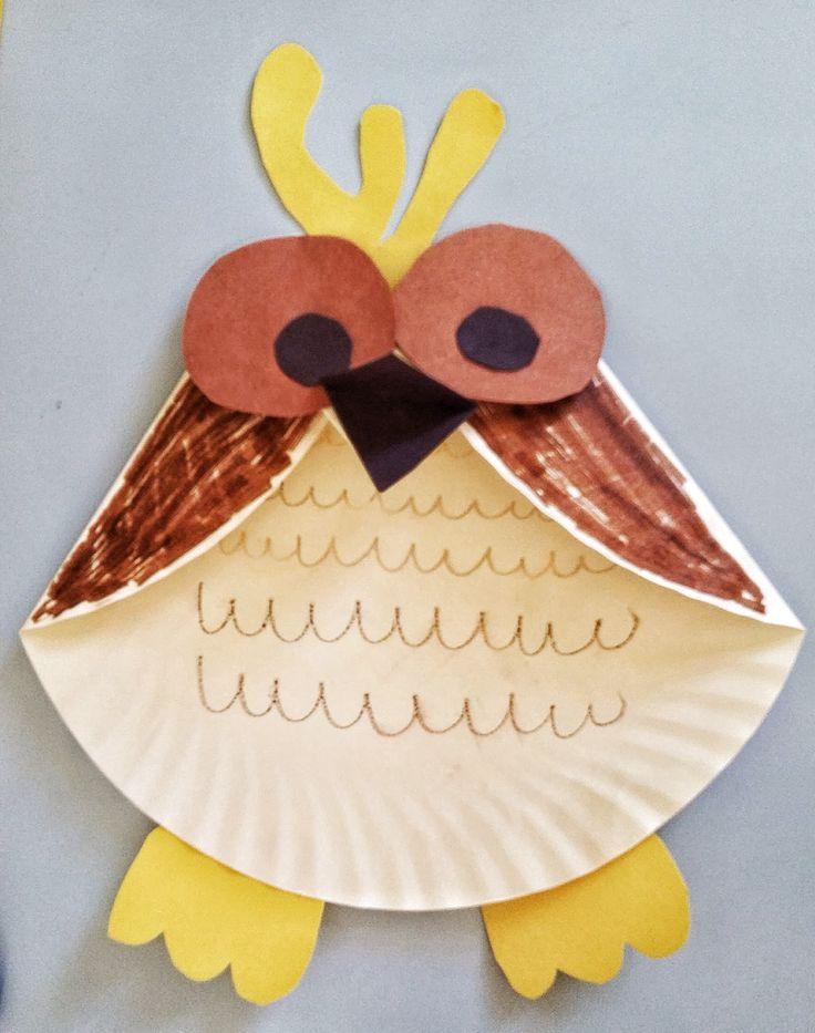 Fun Activities for Kids - Paper Plate Owl Craft