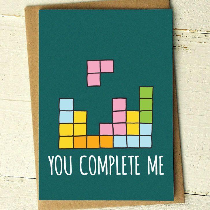 """Pin for Later: Verschickt die coolsten Grüße zum Valentinstag mit diesen Karten  """"You complete me"""" Valentinstags-Grußkarte (ca. 4 €)"""