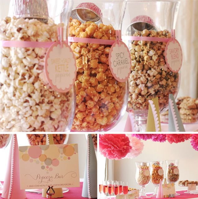 """""""Ready To Pop"""" Baby Shower - Kara's Party Ideas - The Place for All Things Party ~ for our October shower..use fall flavored popcorn...kettle corn, caramel, etc"""