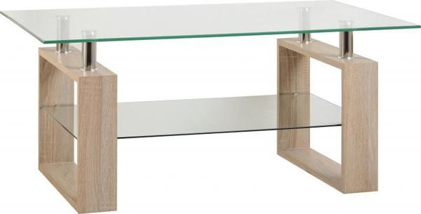 The Milan Glass Top Coffee Table blends modern design with traditional…