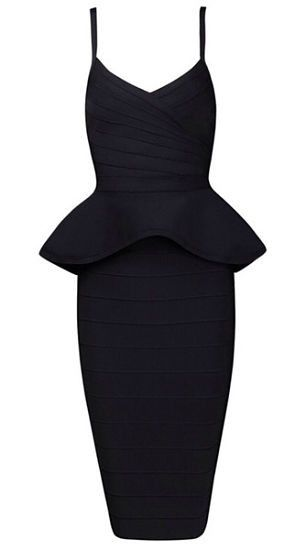 Buy Alley Two-Piece Bandage Dress elegant, sexy,body-con fit, strap dress ,length below knee, exposed top back zipper, skirt back zipper Material- 90% rayon /9% nylon/ 1% spandex Color - Black Size -